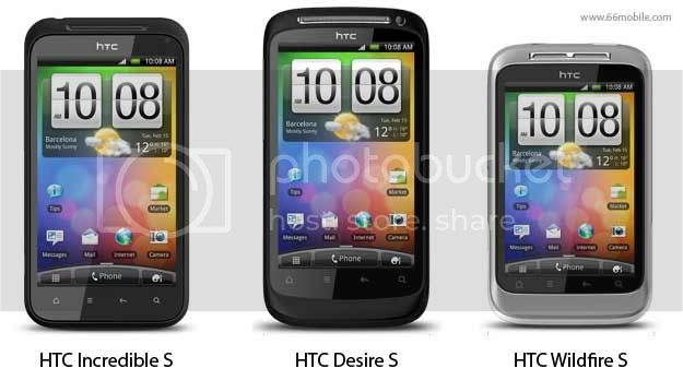 HTC Incredible S - HTC Desire S - HTC Wildfire S