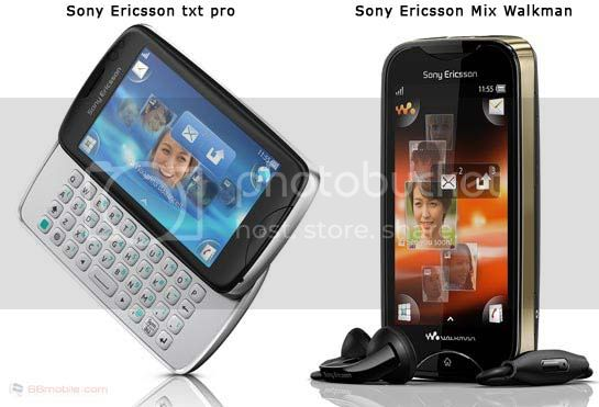 Sony Ericsson txt pro - Sony Ericsson Mix Walkman